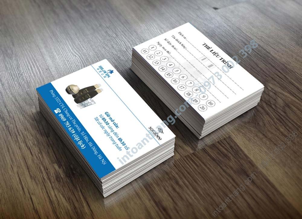 card spa dep, thẻ liệu trình spa